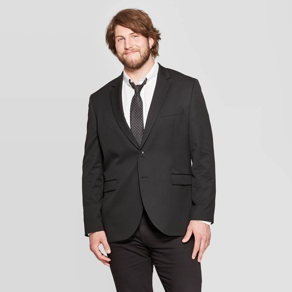Men S Big Tall Slim Fit Suit Jacket Goodfellow Co 8482 Black Tie 44r