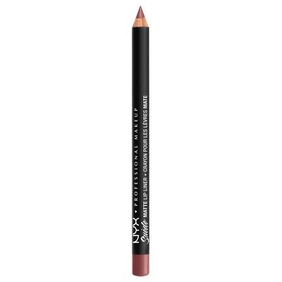NYX Professional Makeup Suede Matte Velvet Smooth Lip Liner - Vegan Formula - 0.035oz