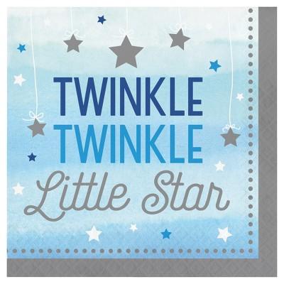 16ct One Little Star Boy Napkins
