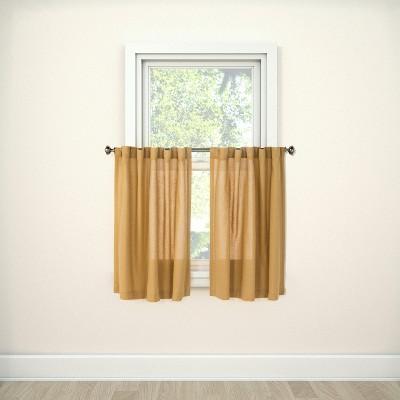36 x42  Bonaire Curtain Tier Gold Metal - Threshold™
