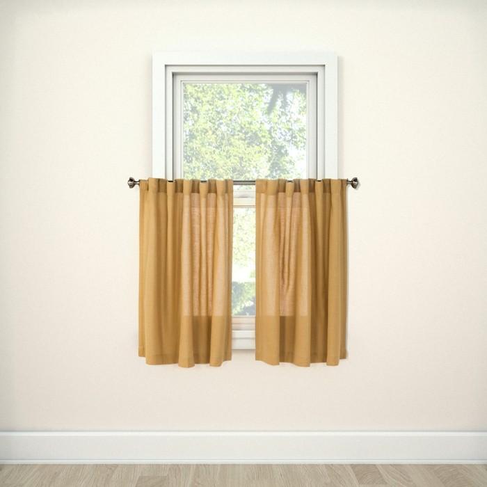 "Bonaire Tier Curtain Panels 36""X42"" - Threshold™ - image 1 of 2"