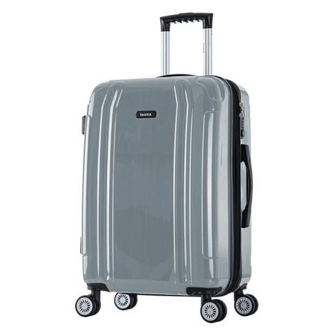 "InUSA SouthWorld 27"" Hardside Spinner Suitcase - Silver Brush - image 1 of 4"