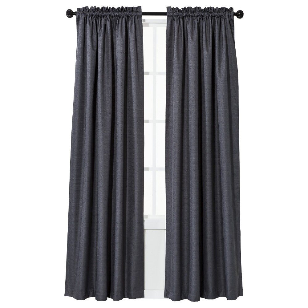 "Image of ""42""""x95"""" Braxton Thermaback Blackout Window Curtain Panel - Eclipse, Gray"""