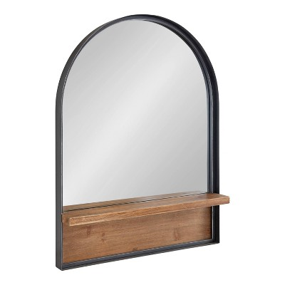 """24"""" x 32"""" Owing Functional Wall Mirror Black - Kate & Laurel All Things Decor"""
