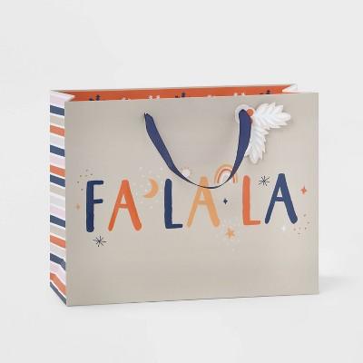 Large Vogue Fa La La Gift Bag Cream - Wondershop™