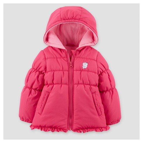 Toddler Girls' Puffer Jacket - Just One You® made by carter's Pink - image 1 of 1