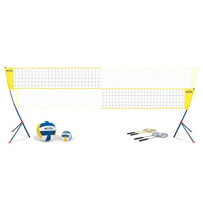 Beyond Outdoors Standard Volleyball/Badminton Set