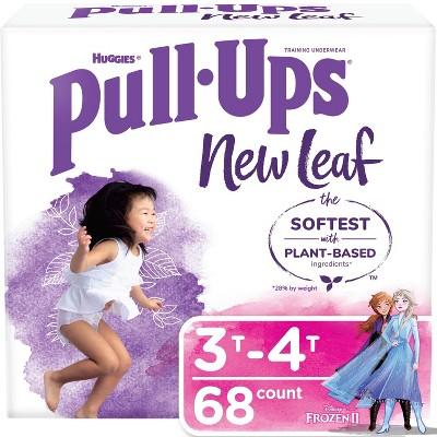 Huggies Pull Ups New Leaf Girls' Training Pants - Size 3T-4T - 68ct