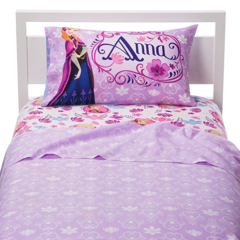 Disney Frozen Sheet Set Anna & Elsa - Twin (Reversible Pillowcase), Multi-Colored