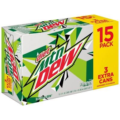 Diet Mountain Dew - 15pk/12 fl oz Cans