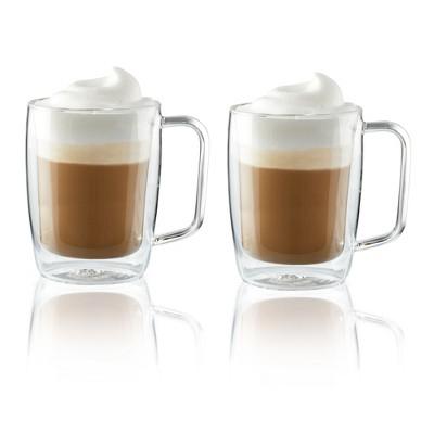 Henckels Double-Wall Glassware 2-pc 15oz. Glass Latte Mug Set