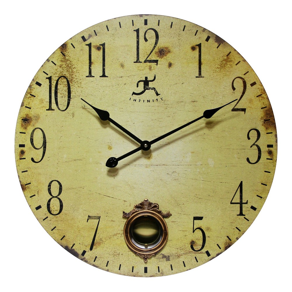 Image of Cottage Grove 24 Wall Clock Tan - Infinity Instruments