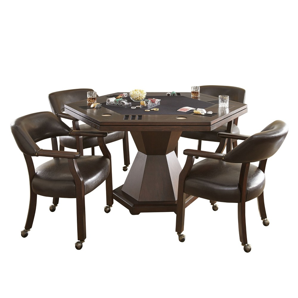 Morris Dining and Game Table Cherry (Red) - Steve Silver