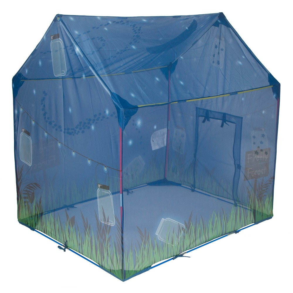 Pacific Play Tents Glow in the Dark Fireflies Play House - Blue