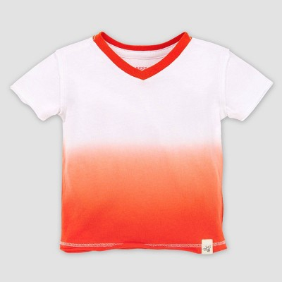 Burt's Bees Baby® Baby Boys' Organic Cotton Dip Dye T-Shirt - Orange 3-6M