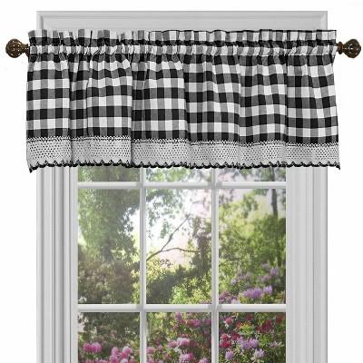GoodGram Buffalo Check Gingham Custom Window Curtain Treatments