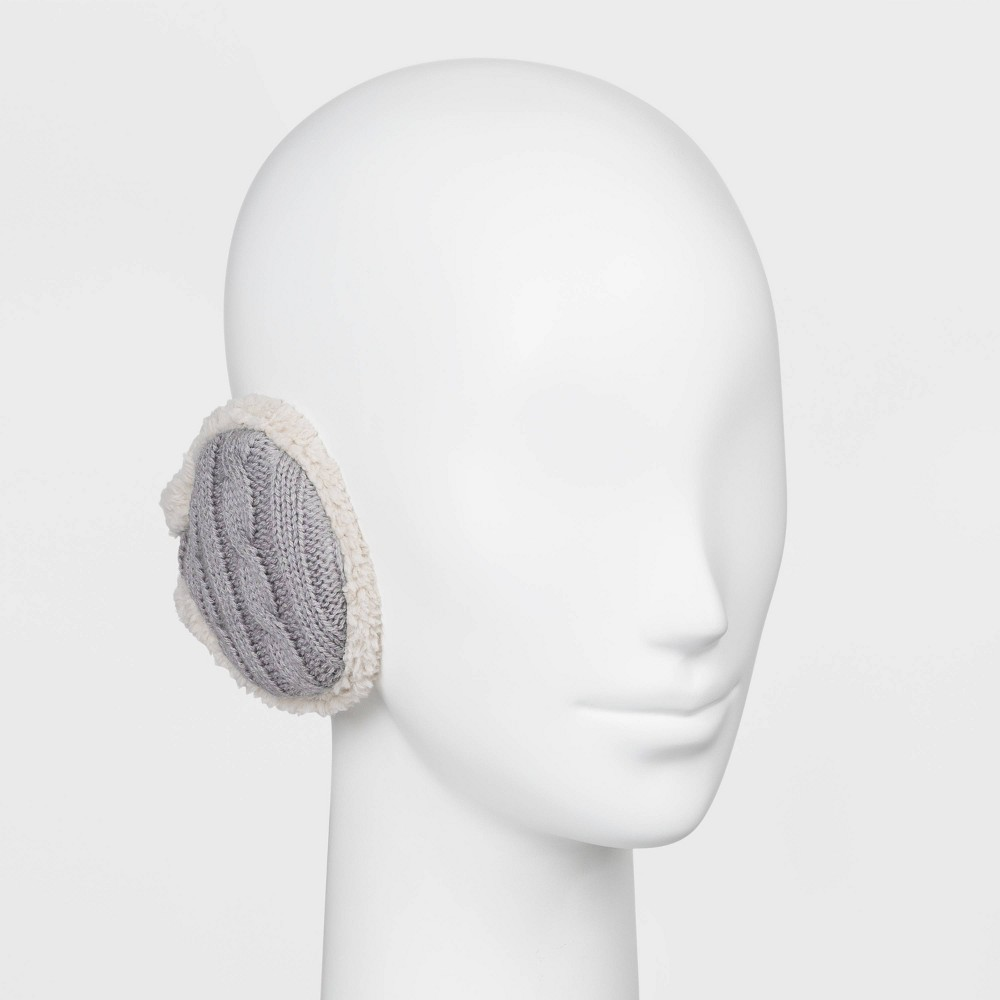 Image of Degrees by 180s Women's Cable Knit Winter Headband - Gray One Size, Women's