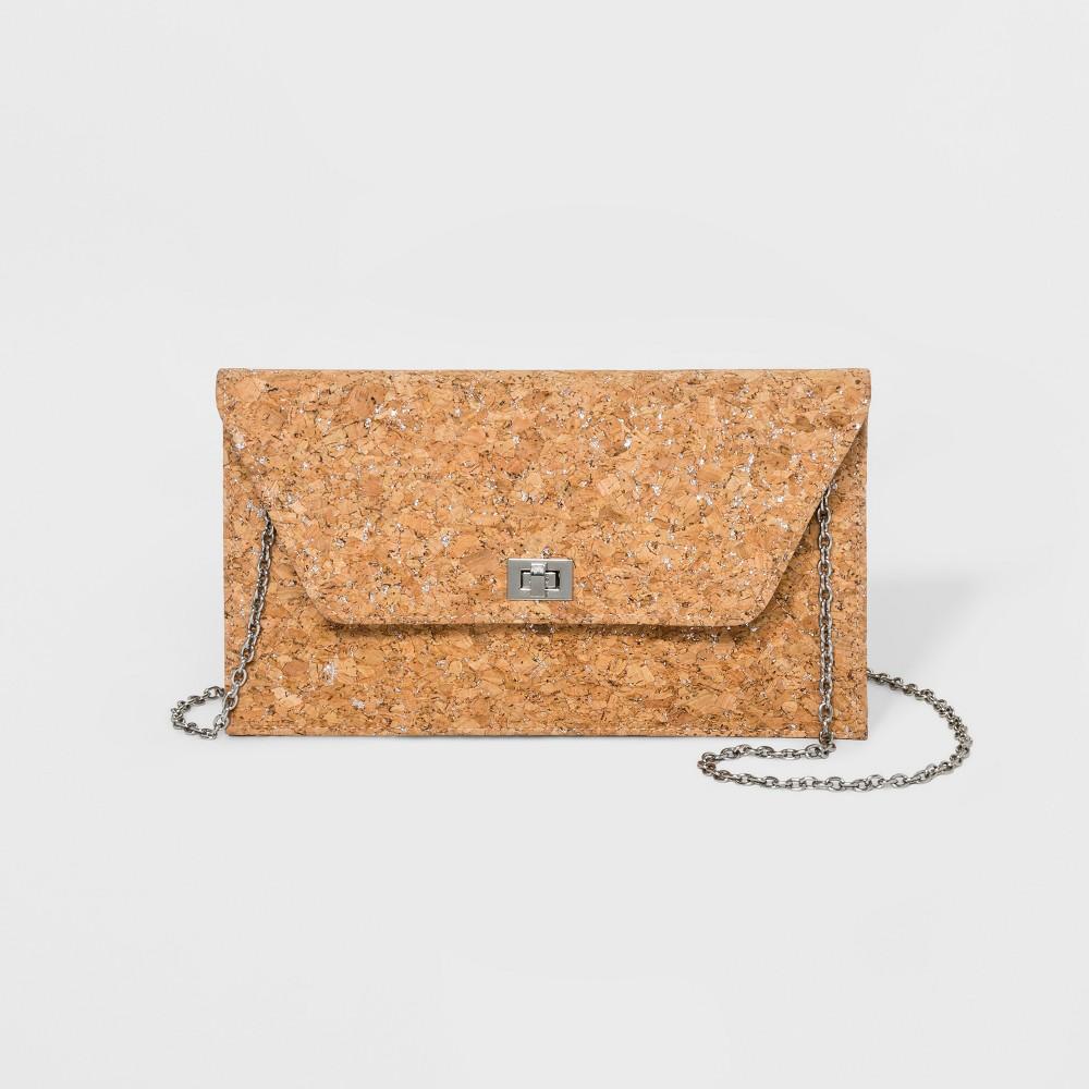 Estee & Lilly Metallic Cork Clutch - Gold, Women's