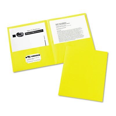 Avery Two-Pocket Folder 40-Sheet Capacity Yellow 25/Box 47992