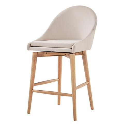 Prime Conrad Natural Danish Modern Swivel 24 In Counter Chair Set Of 2 Oatmeal Inspire Q Short Links Chair Design For Home Short Linksinfo
