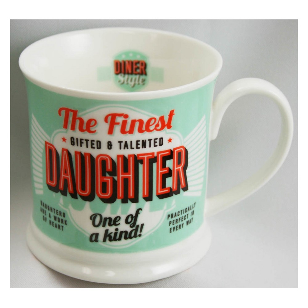 Image of Daughter Diner Style Mug - History & Heraldry, Green