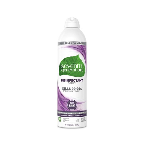 Seventh Generation Disinfectant Spray Lavender Vanilla & Thyme - 13.9oz - image 1 of 4