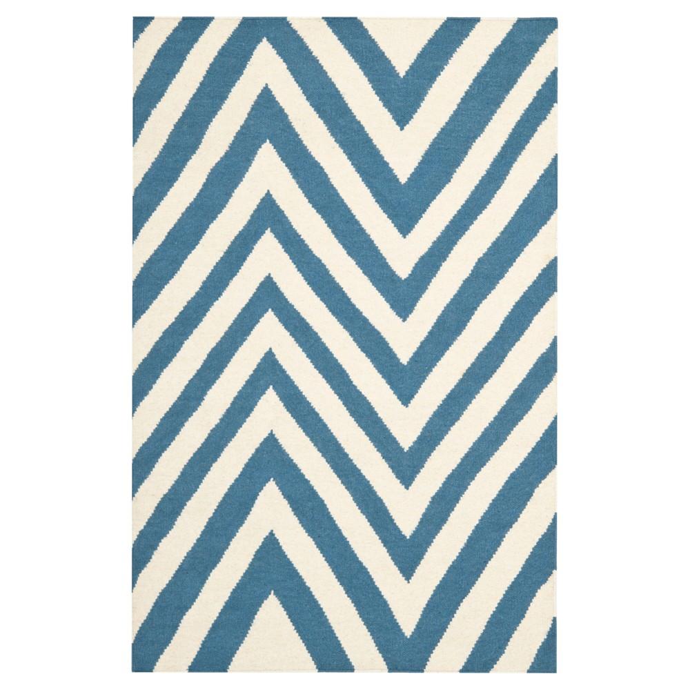 Cheap Nala Dhurry Rug - Blue Ivory - (3x5) - Safavieh