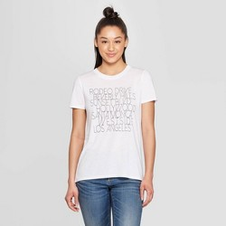 79d0b033b Women's Casual Fit Short Sleeve Crewneck West Side Cities Graphic T-Shirt - Modern  Lux