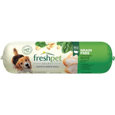 Freshpet Select Roll Grain Free Chicken Recipe Refrigerated Dog Food