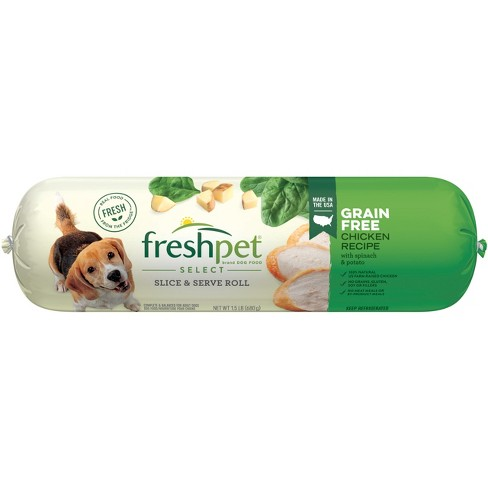Freshpet Select Grain Free Tender Chicken With Spinach and Potato Refrigerated Wet Dog Food Roll - 1.5lb - image 1 of 3