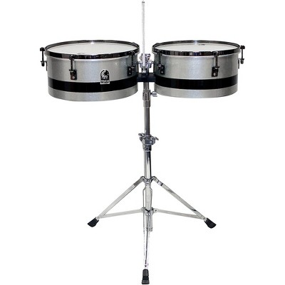 Toca Eric Velez Signature Timbales with Stand 14 in./15 in. Gun Metal Glitter