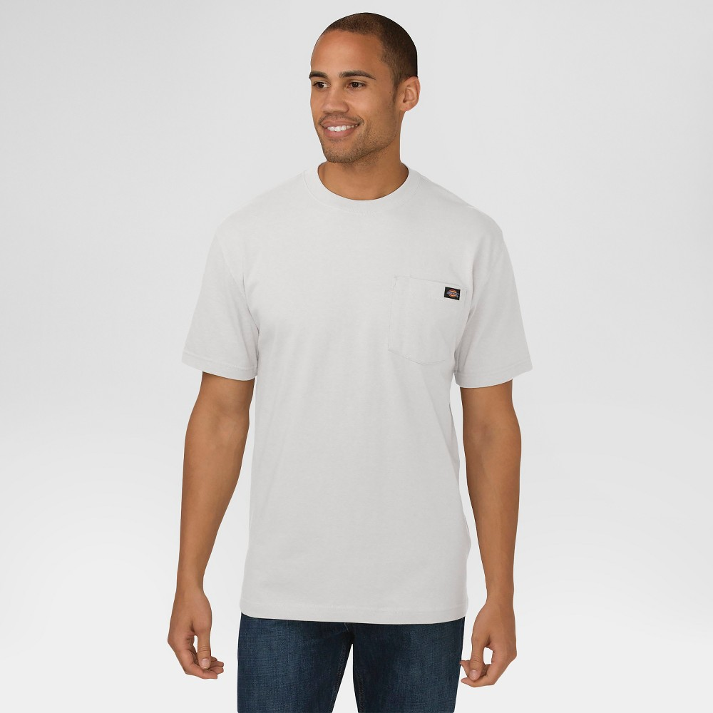 Dickies Men's Cotton Heavyweight Short Sleeve Pocket T-Shirt- Ash Gray M