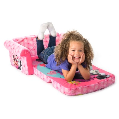 marshmallow furniture children s 2 in 1 flip open foam sofa minnie rh target com