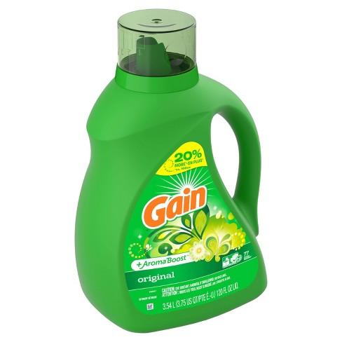 Gain Original + Aroma Boost Liquid Laundry Detergent - 120 fl oz - image 1 of 3