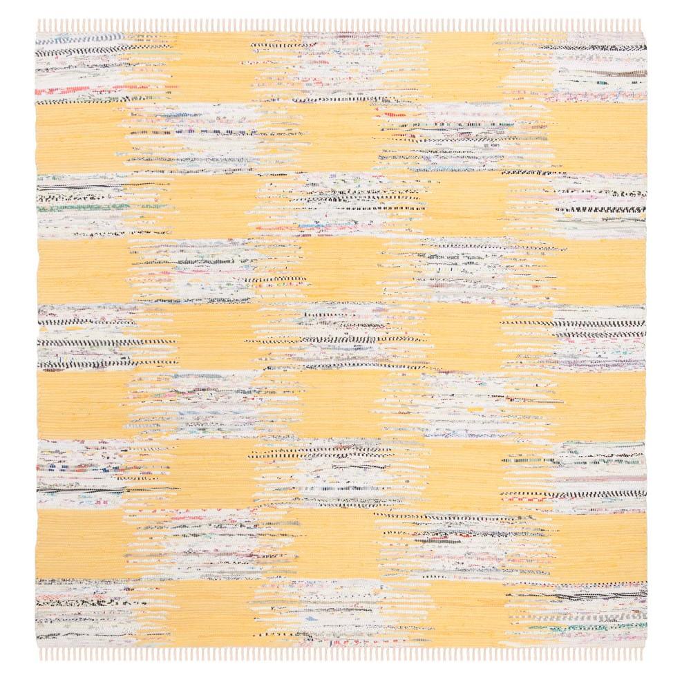 Check Woven Square Area Rug 6'X6' - Safavieh, Yellow/Multi