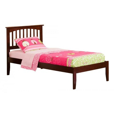 Mission Twin Bed in Walnut - Atlantic Furniture
