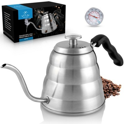 Zulay Kitchen Pour Over Coffee Kettle with  Built-In Thermometer
