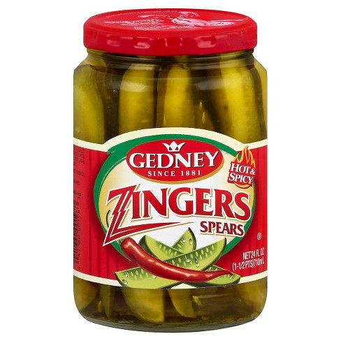 Gedney Hot & Spicy Zingers Spears - 24oz - image 1 of 1
