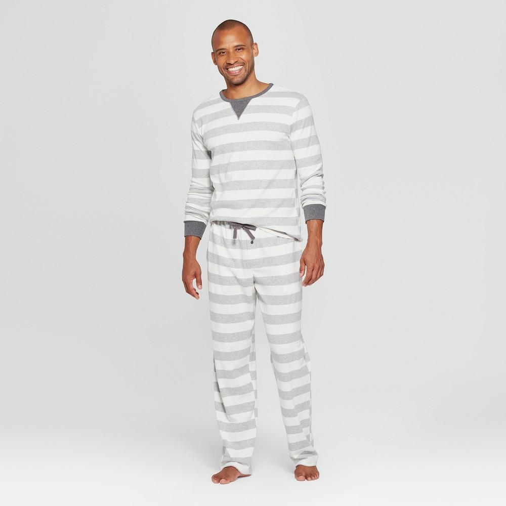 Men's Striped Pajama Set - Gray L