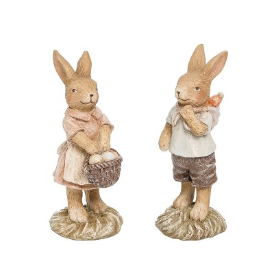 Gallerie II Farmhouse Easter Rabbit Figurine Decoration A/2