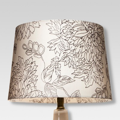 Toile Stitch Lamp Shade Gray - Threshold™