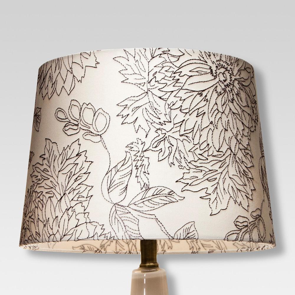 Image of Toile Stitch Lamp Shade Shell - Threshold