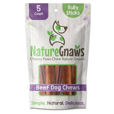 "Nature Gnaws Bully Sticks 5-6"" Beef Dog Treats - 5ct"