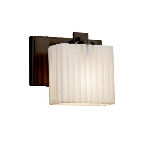 """Justice Design Group PNA-8447-55-PLET Porcelina Single Light 7"""" Wide Bathroom Sconce - image 1 of 1"""