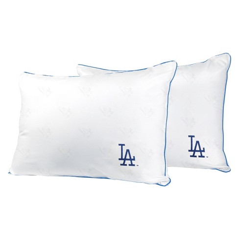 MLB Los Angeles Dodgers White Embroidered Bed Pillow 2pk - image 1 of 1