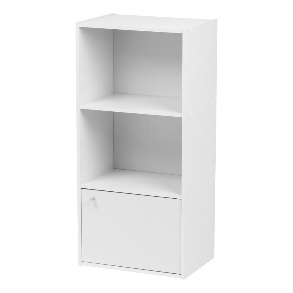 Image of IRIS 3 Tier Shelf With Door - White