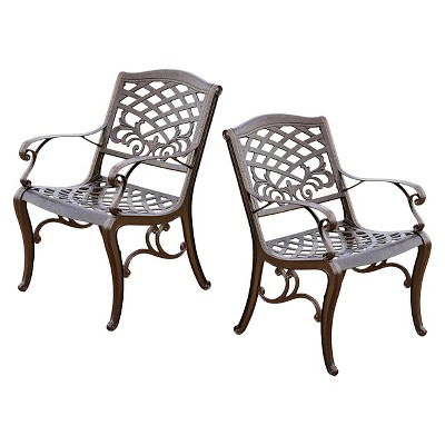 Sarasota 2pk Cast Aluminum Patio Dining Chairs - Christopher Knight Home