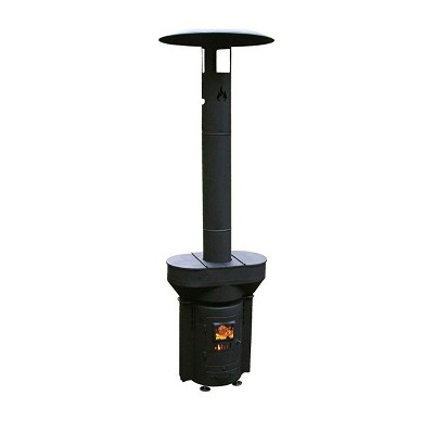 Q Stoves Q05C Q Flame Outdoor Patio Camping Hunting Fishing Portable Wood Pellet Gravity Fed Environmentally Friendly Sustainable Heater, Black
