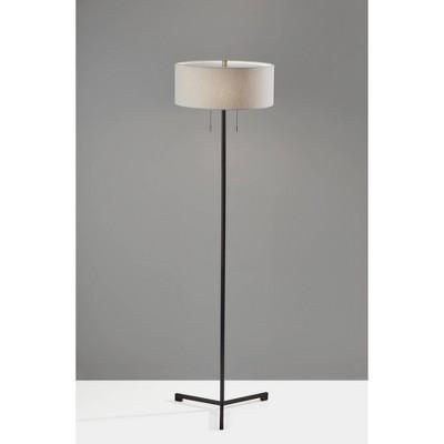 Wesley Floor Lamp Black - Adesso