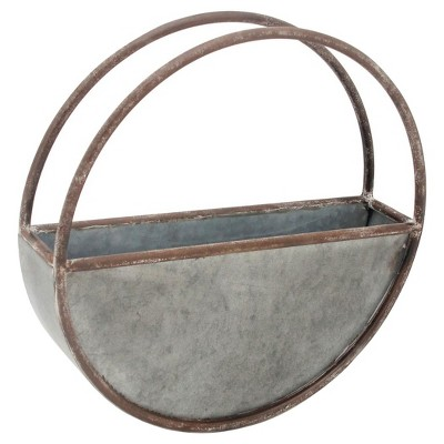 Outdoor Planters Silver Gray - Foreside Home & Garden